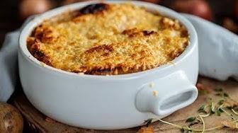 Przepis na zapiekaną zupę cebulową