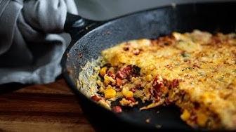 Przepis na Frittata z kukurydzą i papryką