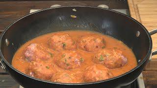 Przepis na pulpety  ryżowo mięsne w pomidorowym sosie