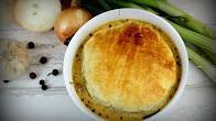 Przepis na zupę cebulowo - serową