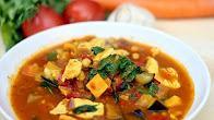 Przepis na marokańską zupę z kurczakiem i cieciorką