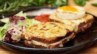 Przepis na  Croque monsieur, czyli zapiekankę z razowym serem