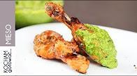 Przepis na Grillowane pałki z kurczaka ze szpinakowym pesto