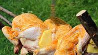 Przepis na pieczonego kurczaka z ogniska