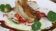 Przepis na Pierś z kurczaka na puree z kalafiora i karmelizowanymi marchewkami