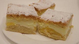 Przepis na Ciasto z jabłkami i budyniem