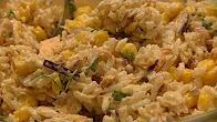 Przepis na szybką sałatkę z tuńczykiem, ryżem i kukurydzą,