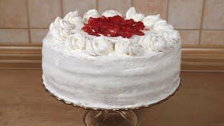 Przepis na:  tort truskawkowy