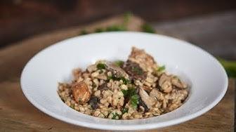 Przepis na Pęczotto z kurczakiem i grzybami