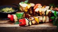 Przepis na Szaszłyki wegetariańskie z kolendrowym pesto